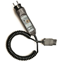 WS-03 Соединитель электрический – адаптер с сетевой вилкой UNI-SCHUKO и кнопкой